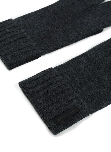 Silk and Cashmere Kaşmir Karışımlı Prime Oyca Erkek  Eldiven Gri